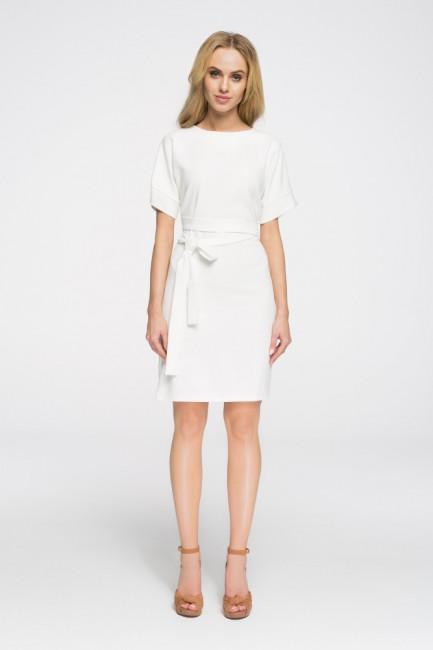 Elegancka sukienka wyjściowa - ecru