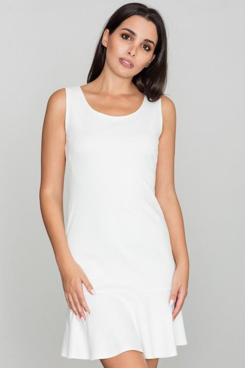 CM3469 Dopasowana sukienka bez rękawów - ecru
