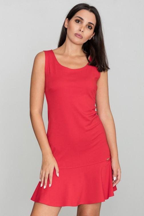 CM3469 Dopasowana sukienka bez rękawów - czerwona