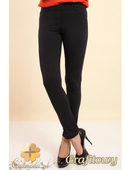 Włoskie elastyczne legginsy spodnie NILIT® SOFTEX - grafitowy