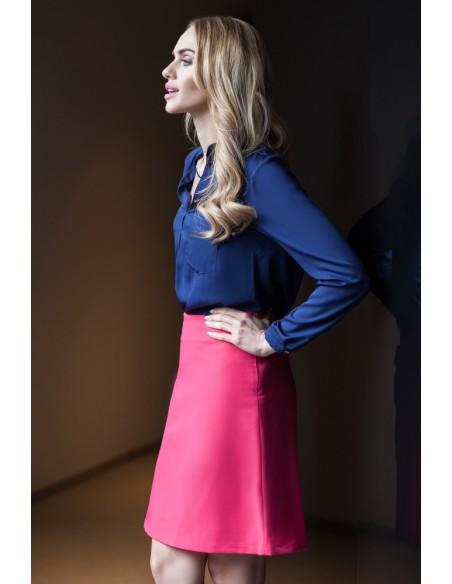 Klasyczna gładka spódniczka mini - różowa