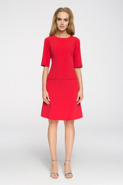 Klasyczna gładka spódniczka mini - czerwona