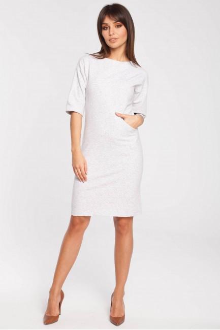 Dresowa sukienka biurowa - stracciatella