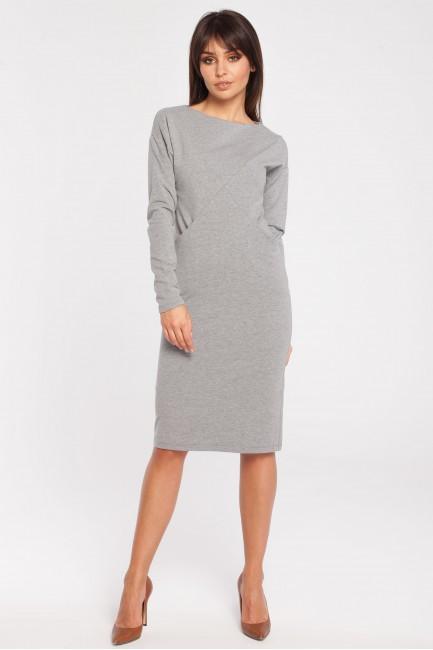 Sportowa sukienka z długim rękawem - szara