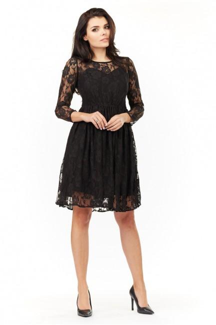 CM3494 Koronkowa sukienka z...