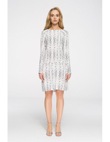Biurowa sukienka z motywem