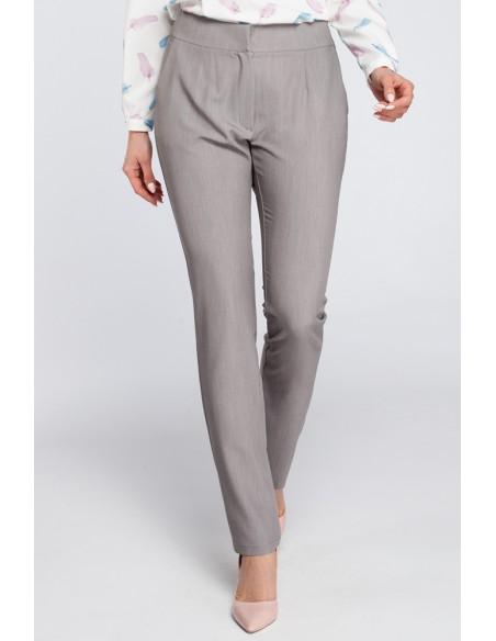 Eleganckie spodnie cygaretki - szare