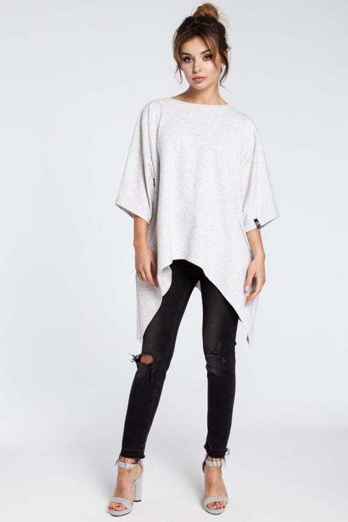 CM3031 Asymetryczna bluza oversize - stracciatella