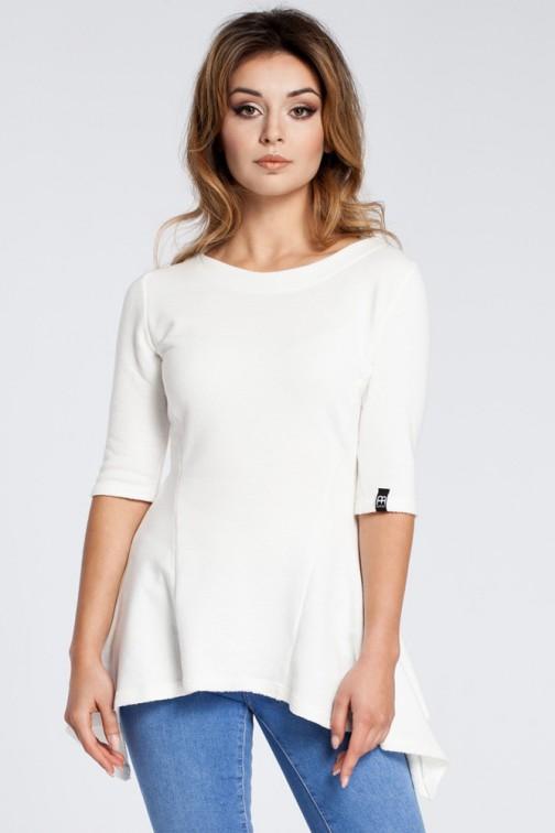 CM3038 Kobieca bluzka baskinka - ecru