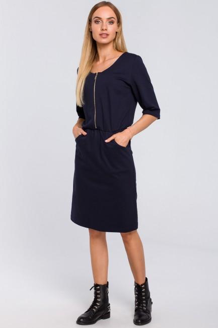 CM4848 Dresowa sukienka z...