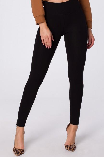 Eleganckie legginsy z ozdobnymi zamkami