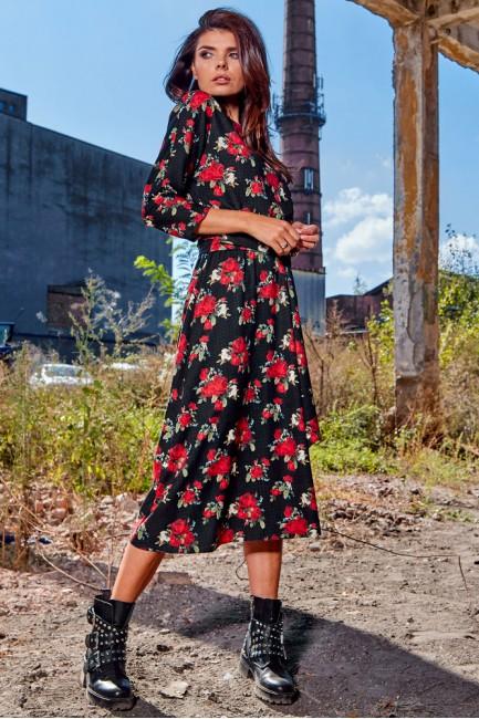 CM4871 Sukienka midi z...