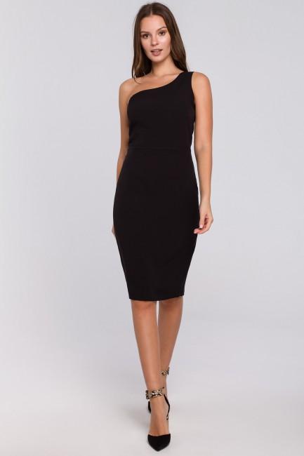 Sukienka na jedno ramię - czarna