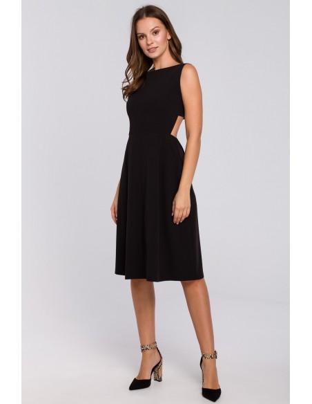 Sukienka z odkrytymi plecami - czarna