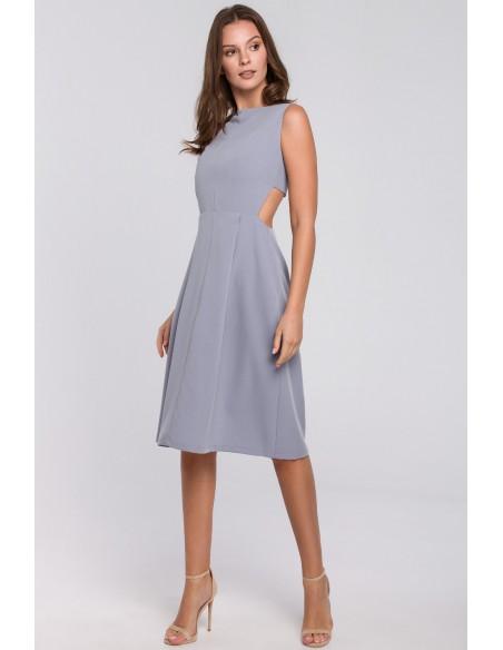 Sukienka z odkrytymi plecami - kolor gołębi