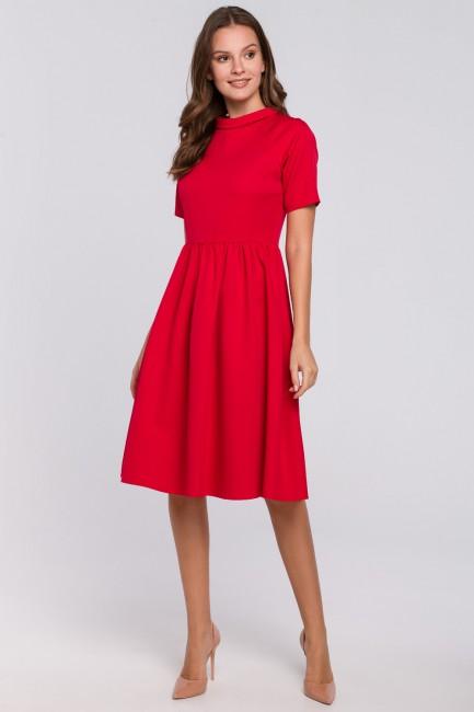 CM4967 Sukienka ze stójką -...