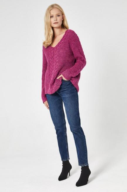 CM4744 Delikatny sweter z...