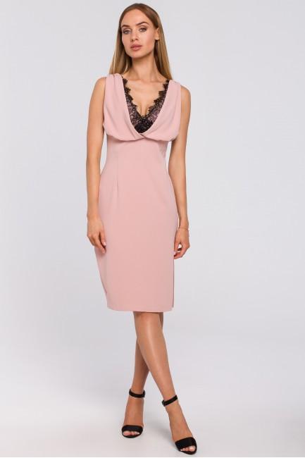 CM4996 Sukienka z koronkową...