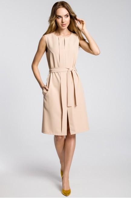 CM3593 Sukienka z plisą i...