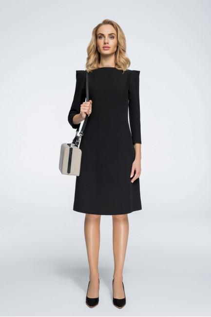 Sukienka z rękawami typu bufka - czarna