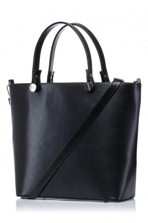 CM3566 Elegancka torba do ręki - czarna