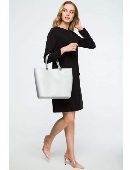 Elegancka torba do ręki - szara