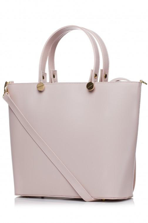 CM3566 Elegancka torba do ręki - pudrowa