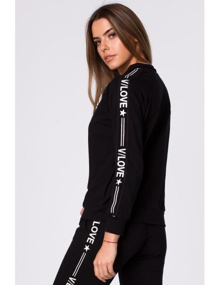 Rozsuwana bluzka damska z nadrukiem