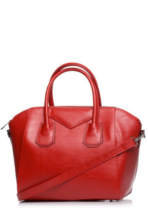CM3569 Torebka typu kuferek do ręki - czerwona
