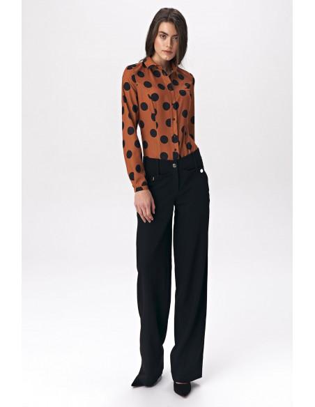 Bluzka koszulowa body - grochy