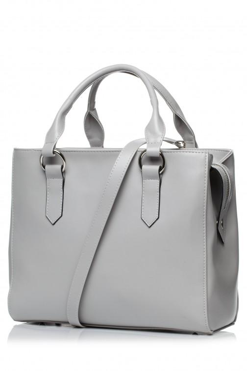 CM3576 Biurowa torebka na ramię - szara