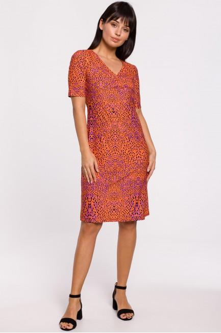 CM5139 Sukienka z nadrukiem...