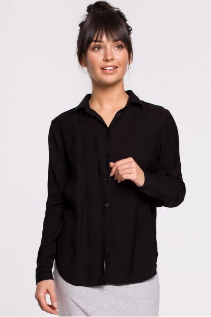 Koszula z pagonami - czarna