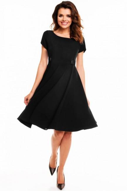 Koktajlowa sukienka wieczorowa - czarna