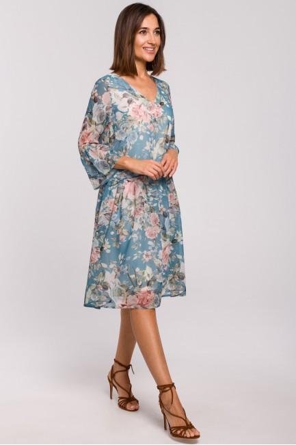 CM5173 Szyfonowa sukienka z...