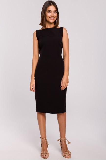 Sukienka ołówkowa bez rękawów - czarna