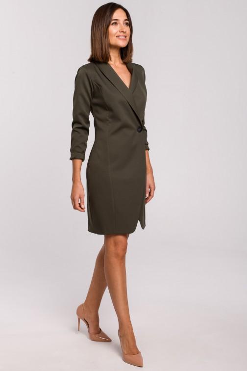 CM5176 Sukienka żakietowa - khaki