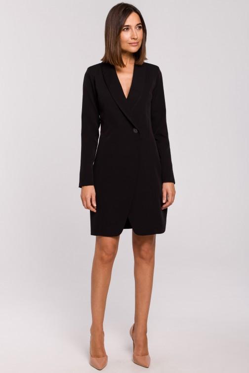 CM5176 Sukienka żakietowa - czarna