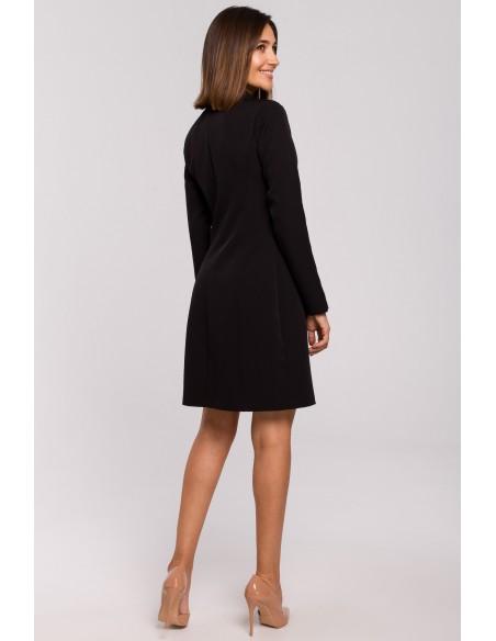 Sukienka żakietowa - czarna