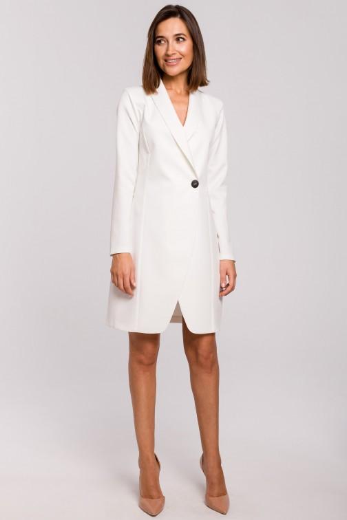 Sukienka żakietowa - ecru