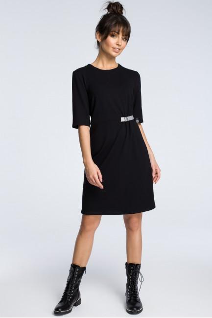 Sukienka z klamrą - czarna