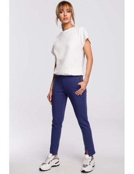 Spodnie z rozporkami - indygo