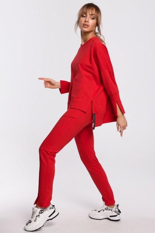 CM5200 Spodnie z rozporkami - czerwone