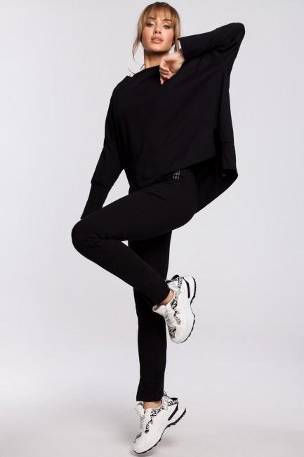 Spodnie z rozporkami - czarne