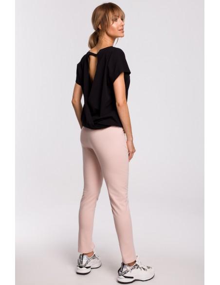 Spodnie z rozporkami - różowe