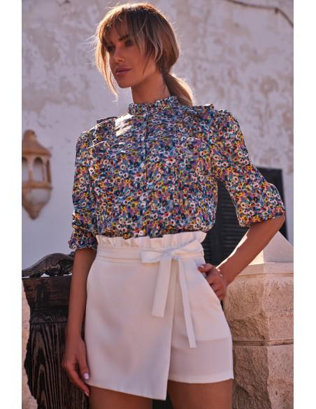 Bluzka z falbankami w kwiatuszki - model 2