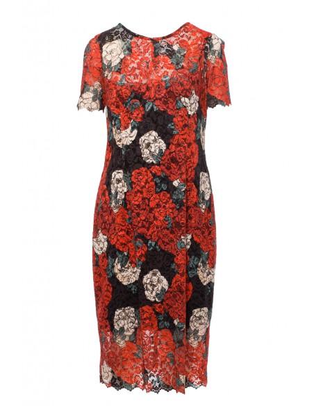 Sukienka koronkowa z nadrukiem - model 1