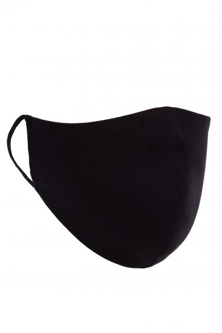 Profilowana maseczka bawełniana - czarna