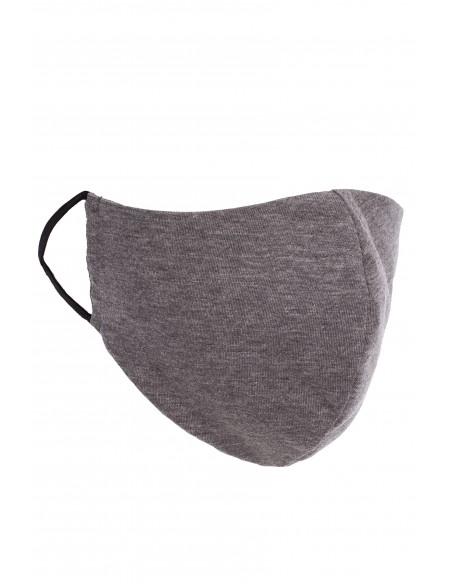 Profilowana maseczka bawełniana - szara