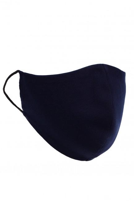 Profilowana maseczka bawełniana - granatowa